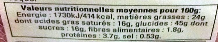 Galettes des Rois à la Pomme - Nutrition facts - fr