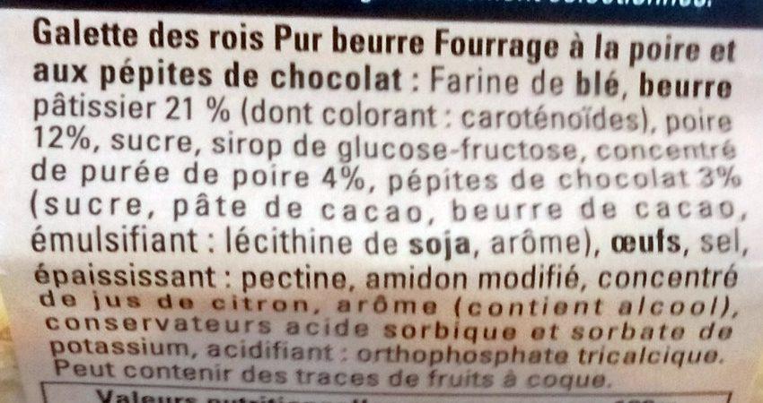 Galettes des Rois à la Poire et aux Pépites de Chocolat - Ingredients - fr