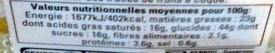 Galettes des Rois à la Poire et aux Pépites de Chocolat - Nutrition facts - fr