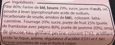 Gâteaux Bretons Fourrage à la Framboise - Ingredients