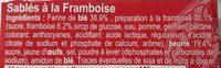 Sablés à la Framboise Pur Beurre - Ingrediënten - fr