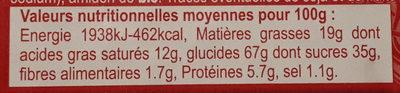 Sablés à la Framboise Pur Beurre - Voedingswaarden - fr