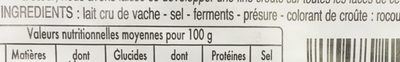 1 / 2 Reblochon Fruit.lc - Ingredients - fr