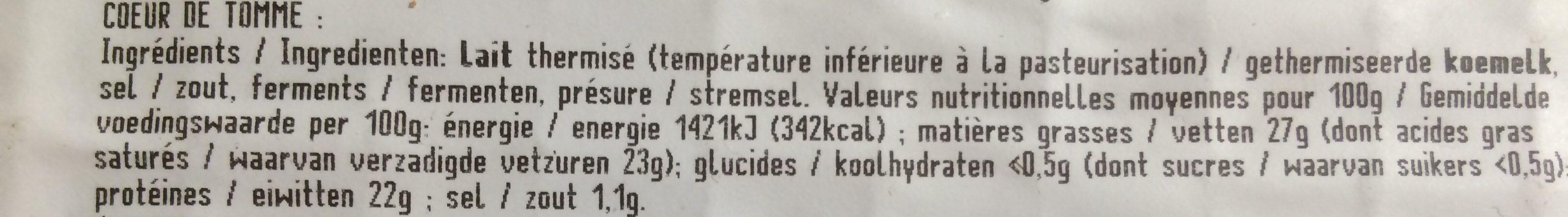 Raclette pochat et fils - Ingredients - fr
