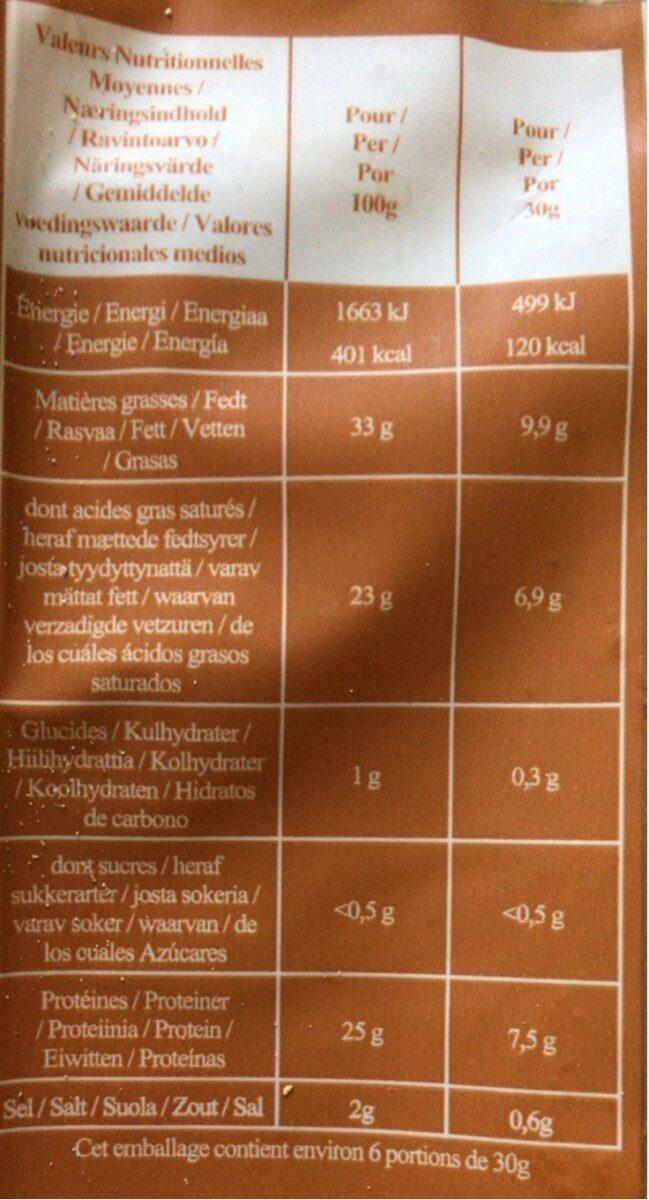 Abondance De Savoie AOP 200 G, 1 Pièce - Nutrition facts - fr