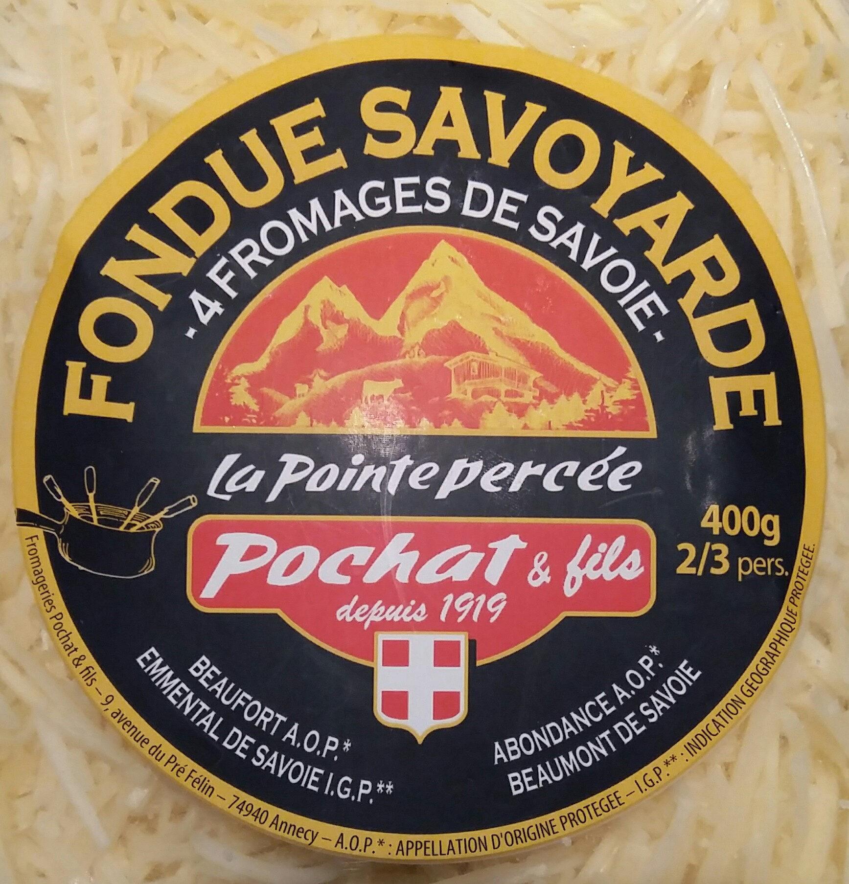 Fondue Savoyarde aux 4 fromages au lait cru LA POINTE PERCEE, 32%MG - Product - fr