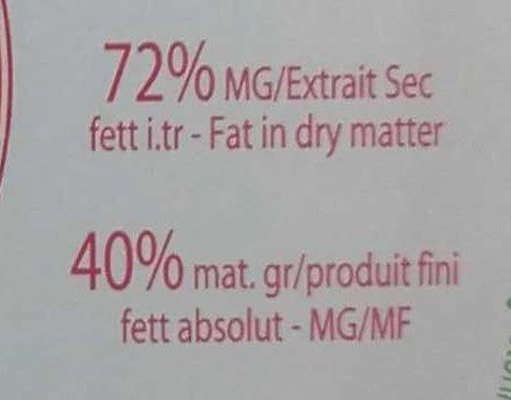 Brillat-Savarin - Nutrition facts
