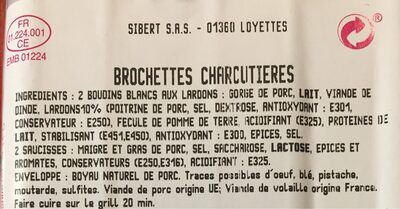 Brochettes Charcutières - Ingredients