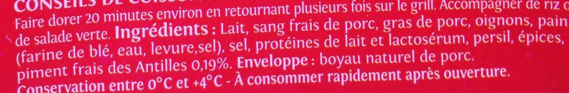 Brochettes antillaises aux piments frais des Antilles - Ingrédients - fr