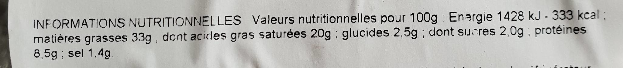 Escargot Tres Gros X12, - Informations nutritionnelles