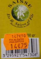 Pael'Or - Nutrition facts - fr