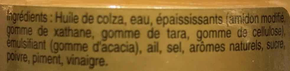 Rouille pour soupe de poissons - Ingrédients - fr
