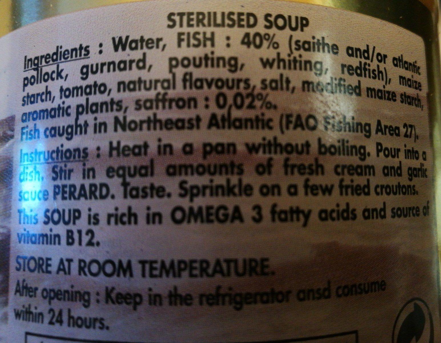 Soupe de poissons du touquet - Ingredients