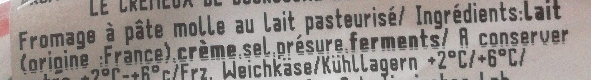 Crémeux de bourgogne - Ingrédients - fr