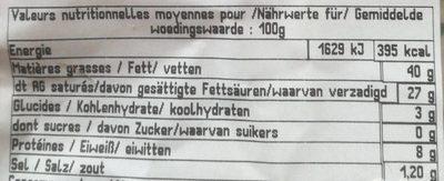 Crémeux de bourgogne - Informations nutritionnelles - fr