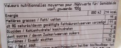 Fromage Le Petit Vougeot - Informations nutritionnelles - fr