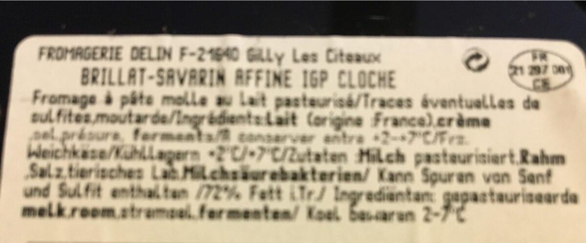 Brillat-Savarin affiné (40 % MG) - Ingredients - fr