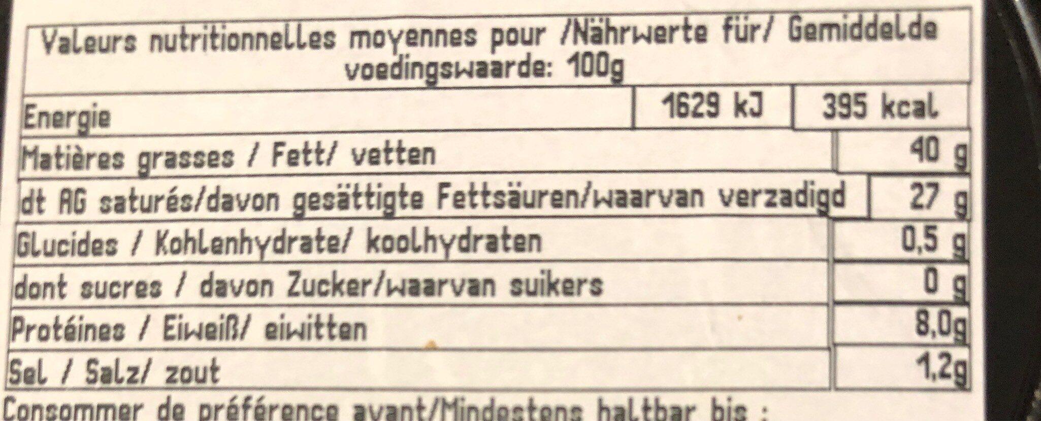 Brillat-Savarin affiné (40 % MG) - Nutrition facts - fr