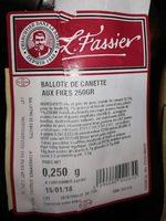 Ballotte de canette - Product - fr