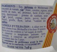 Soupe de poissons de Méditerranée - Ingredientes - fr
