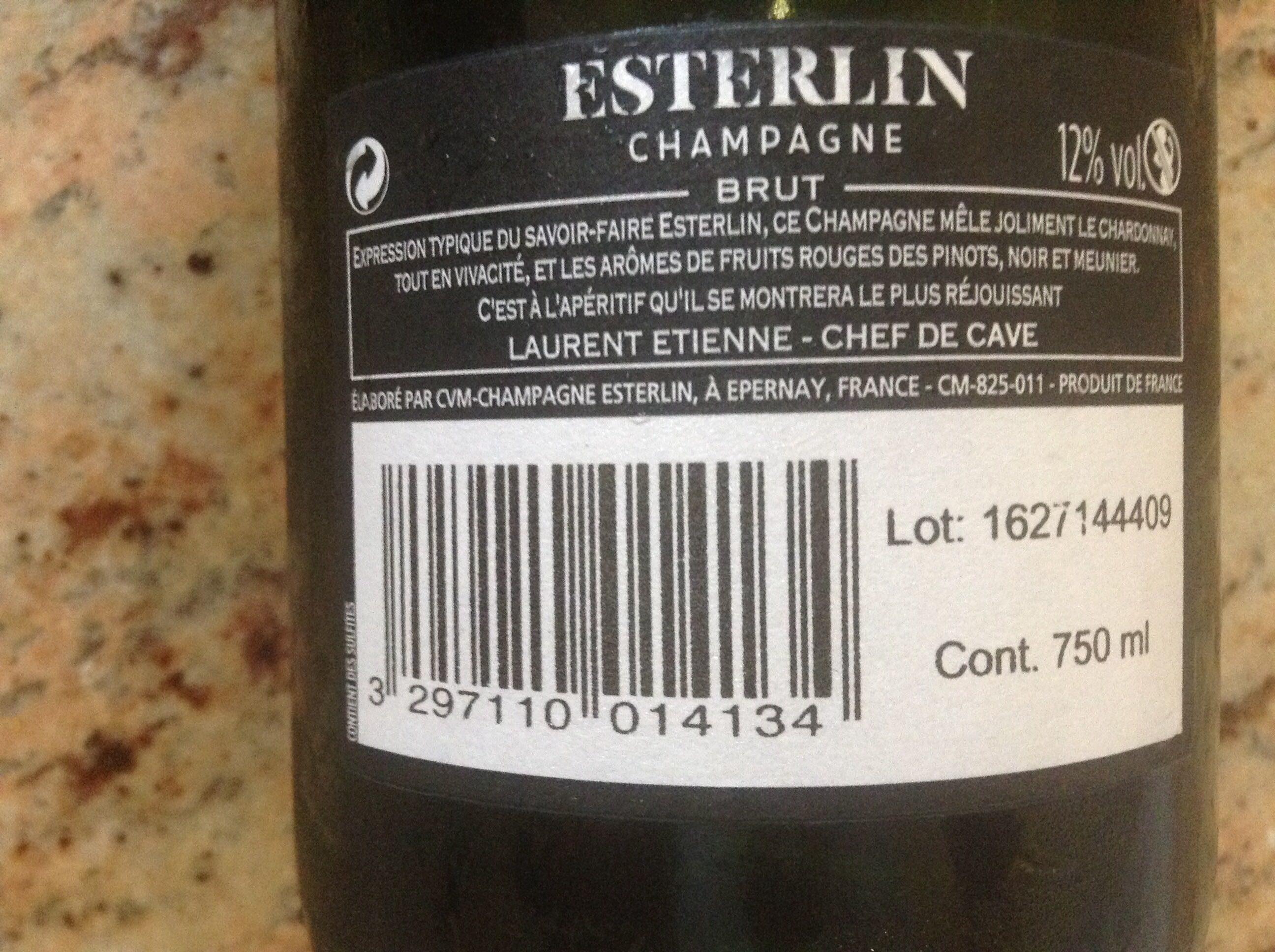 Esterlin Champagne - Ingrédients - fr