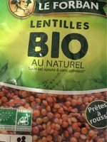 Lentilles bio au naturel - Produit
