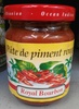 Pâte de piment rouge - Produit