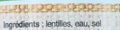 Lentilles - Ingredients