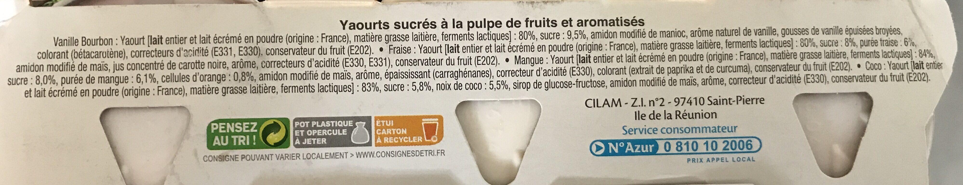 Fruits mixes - Ingrédients - fr