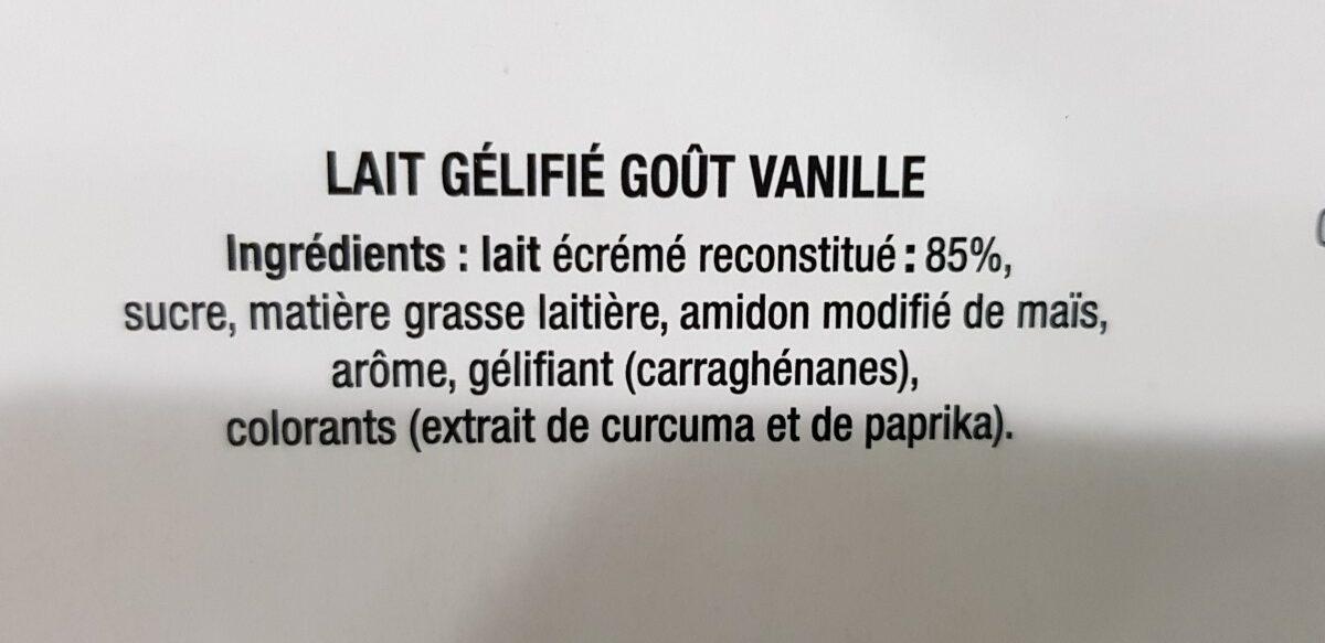 Super Flan Goût Vanille 6 Pots - Ingrédients - fr