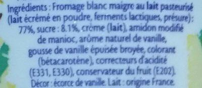 Fromage blanc Vanille Bourbon - Inhaltsstoffe