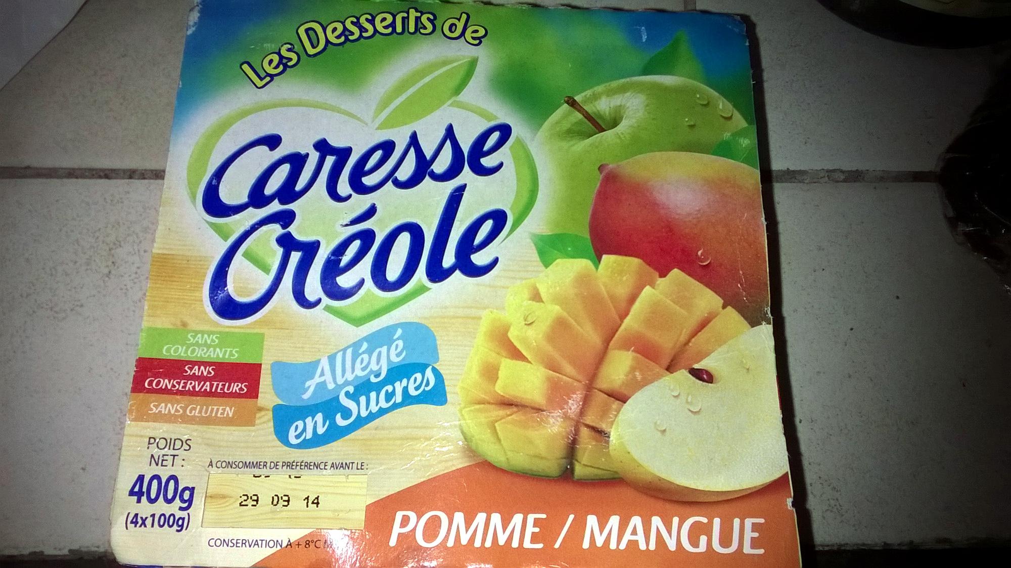 Caresse créole pomme/mangue allégé en sucres - Product - fr