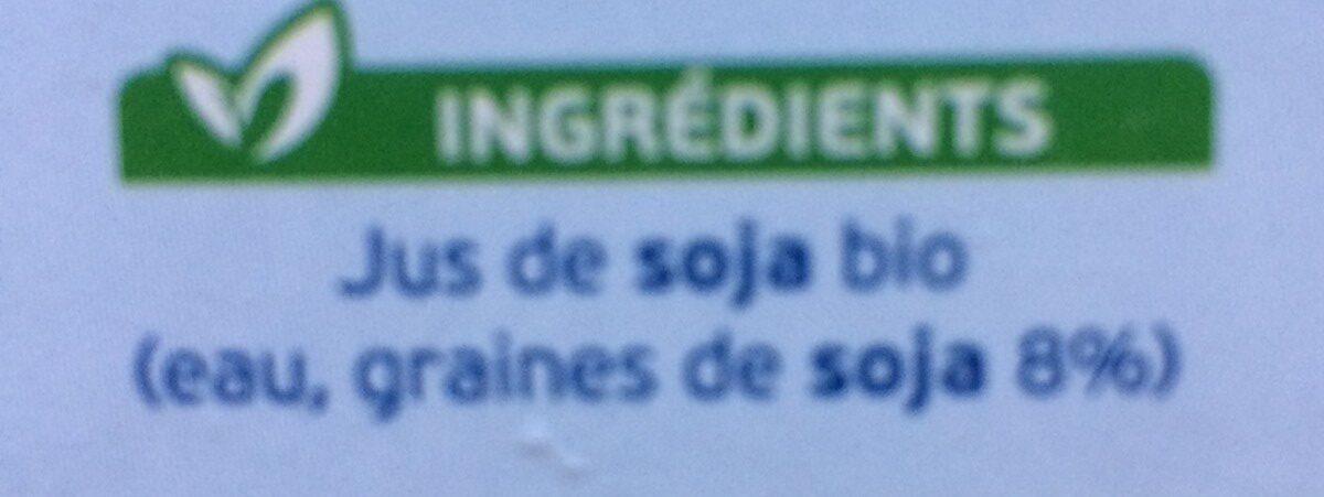 Boisson soja - Ingrédients