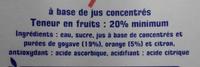 Jus d'orange Goyave - Ingrediënten