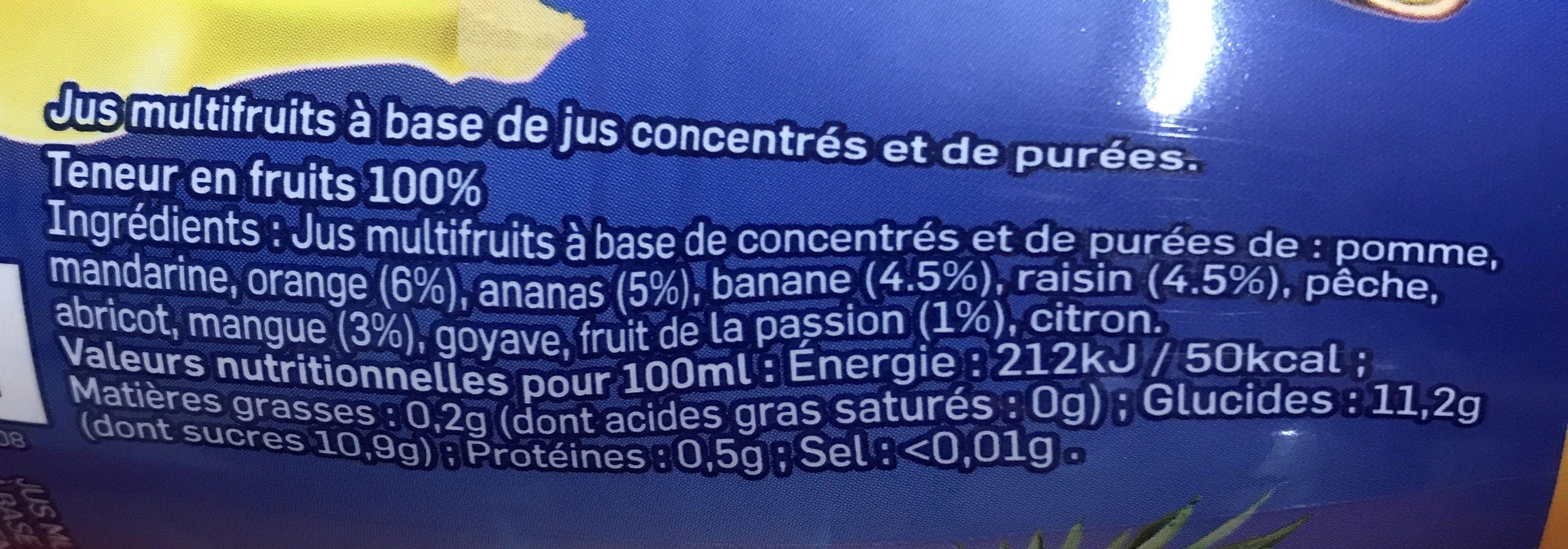 Jus multifruits REA 25cl - Ingredients