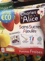 Sans Sucres Ajoutes, Pommes Fraises - Produit - fr