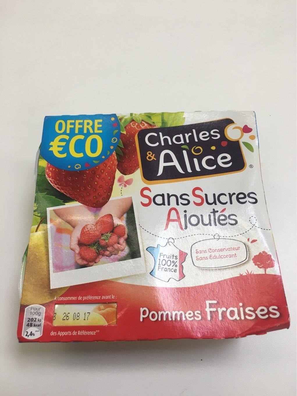 Sans Sucres Ajoutes, Pommes Fraises - Informations nutritionnelles - fr