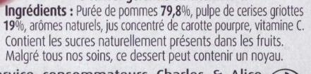 Pomme Cerises - Ingrédients - fr