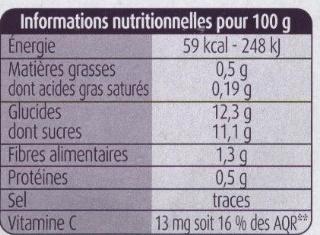 Pomme Cerises - Informations nutritionnelles - fr