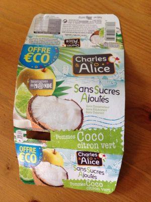 Pommes Coco Citron vert - Produit - fr
