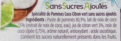 Pommes Coco Citron vert - Ingrédients - fr