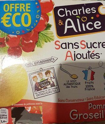 Pommes groseilles Sans sucres ajoutés - Produit - fr