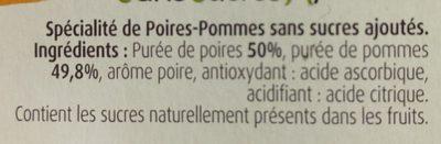 Pommes Poires Williams - Ingrédients - fr