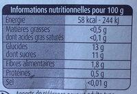 Pommes Poires Williams - Informations nutritionnelles - fr