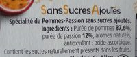Pommes Passion - Ingredients - fr