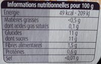 Pommes Passion - Nutrition facts - fr