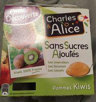 Compote Pommes-Kiwi sans sucres ajoutés - Produit - fr