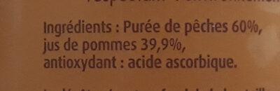 Le jus français pommes pêches - Ingredients - fr