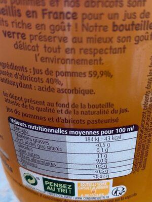 Le jus français - Informations nutritionnelles - fr