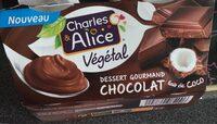 Dessert gourmand chocolat lait de coco - Product - fr